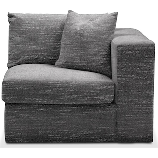 Collin Right Arm Facing Chair- Cumulus in Milford II Charcoal