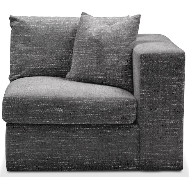 Living Room Furniture - Collin Right Arm Facing Chair- Cumulus in Milford II Charcoal