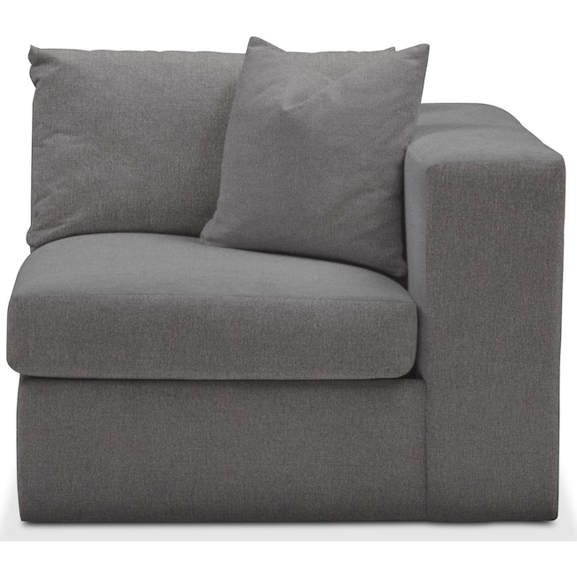 Living Room Furniture - Collin Right Arm Facing Chair- Cumulus in Hugo Graphite