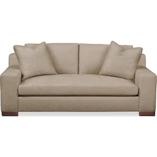 Ethan Apartment Sofa- Cumulus in Dudley Burlap