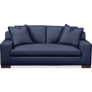Ethan Apartment Sofa- Cumulus in Oakley III Ink