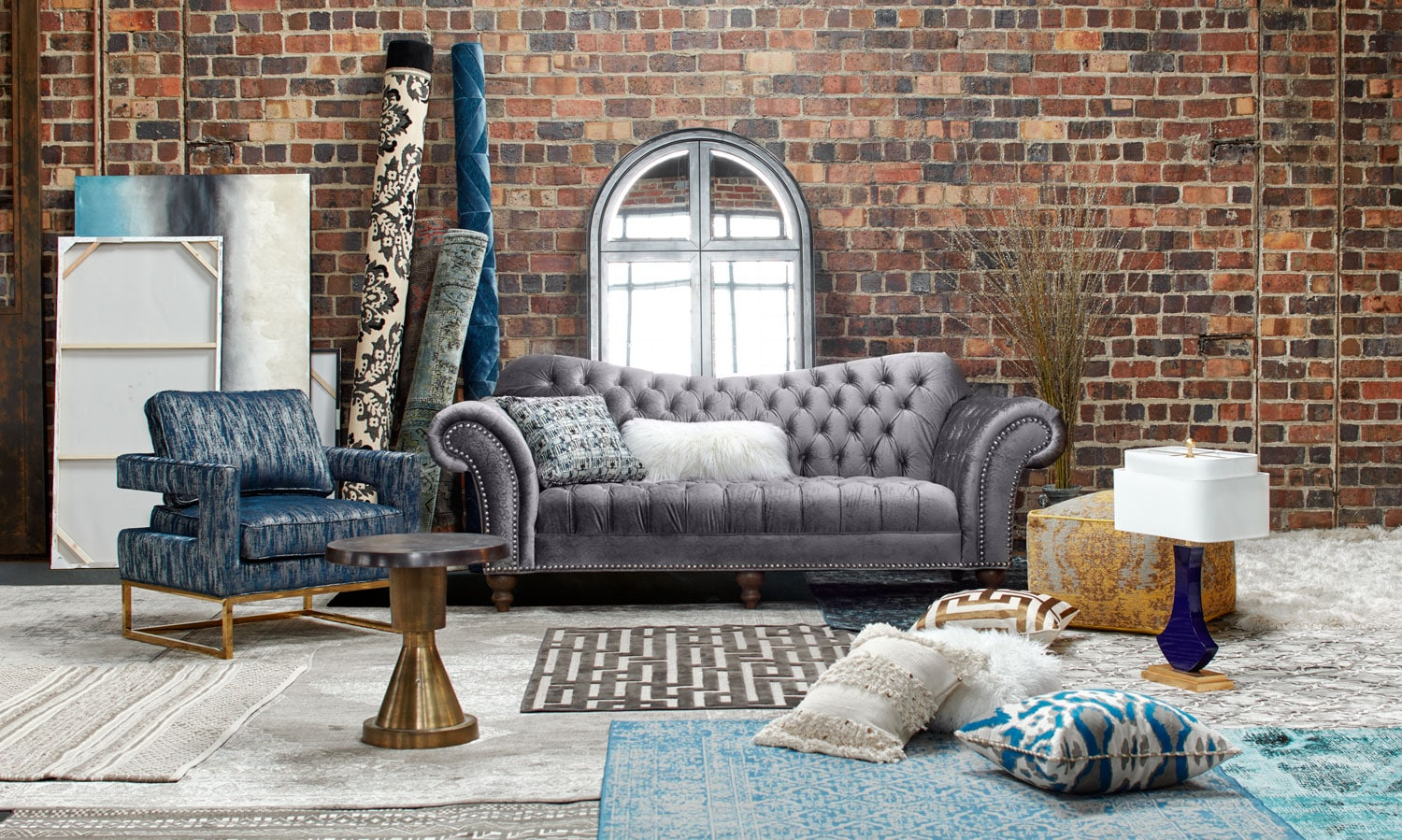 The brittney living room collection gray