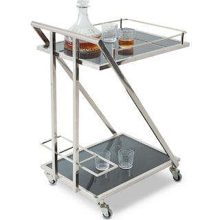Rigsby Serving Cart - Stainless Steel