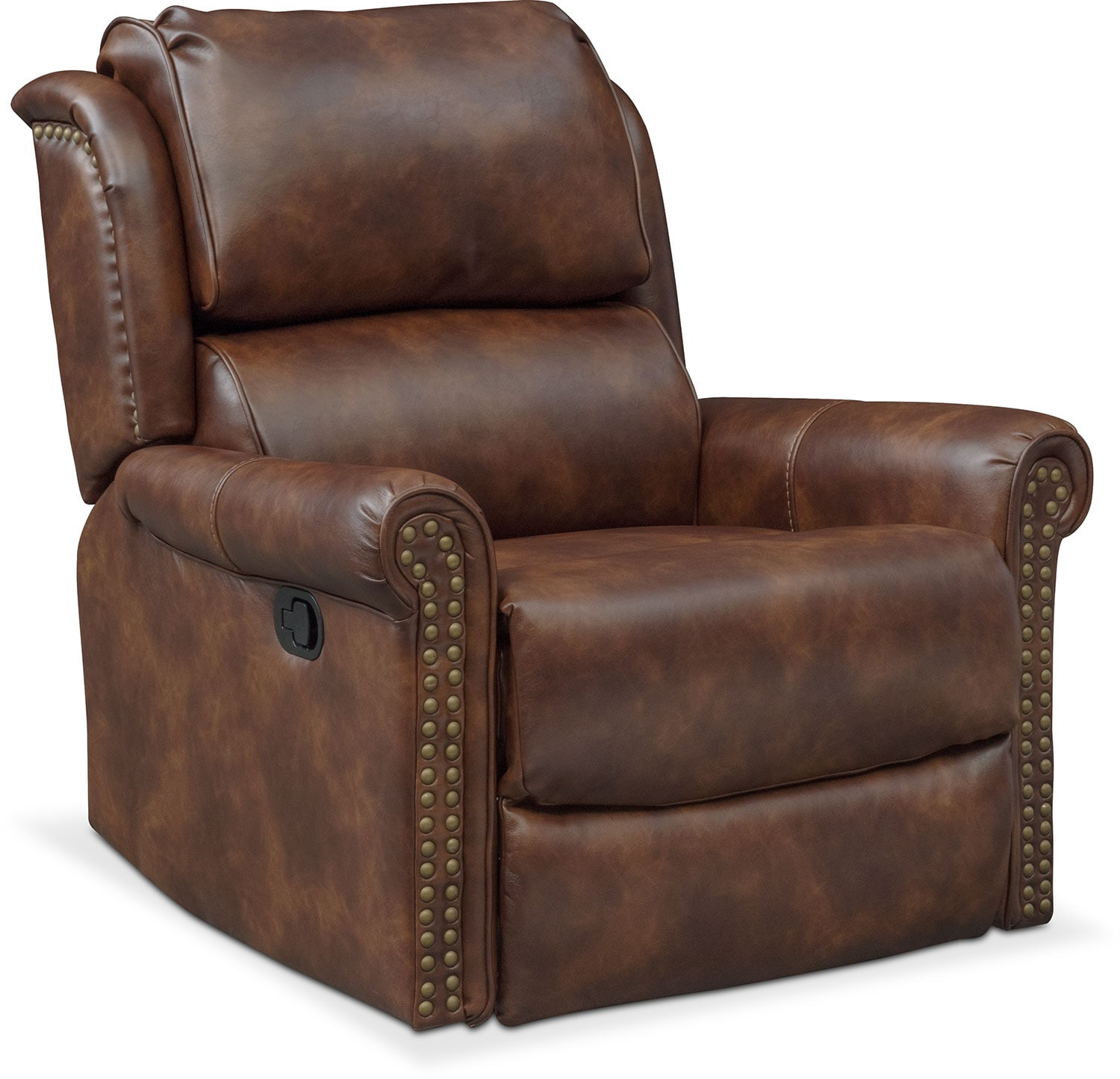 Courtland Glider Recliner - Pecan  sc 1 st  Value City Furniture : art of care recliner - islam-shia.org