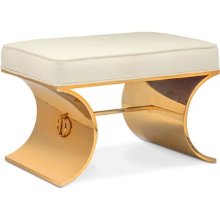 Goddess Bench - White and Gold