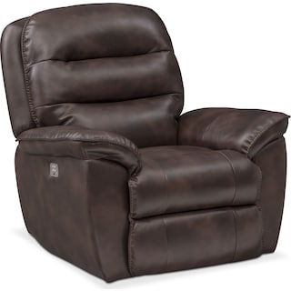 Regis Dual Power Recliner - Chocolate