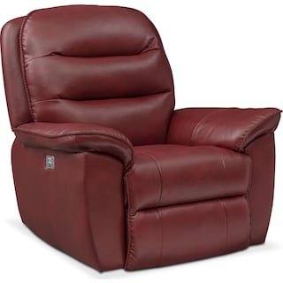 Regis Dual Power Recliner - Red