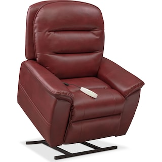 Regis Power Lift Recliner - Red