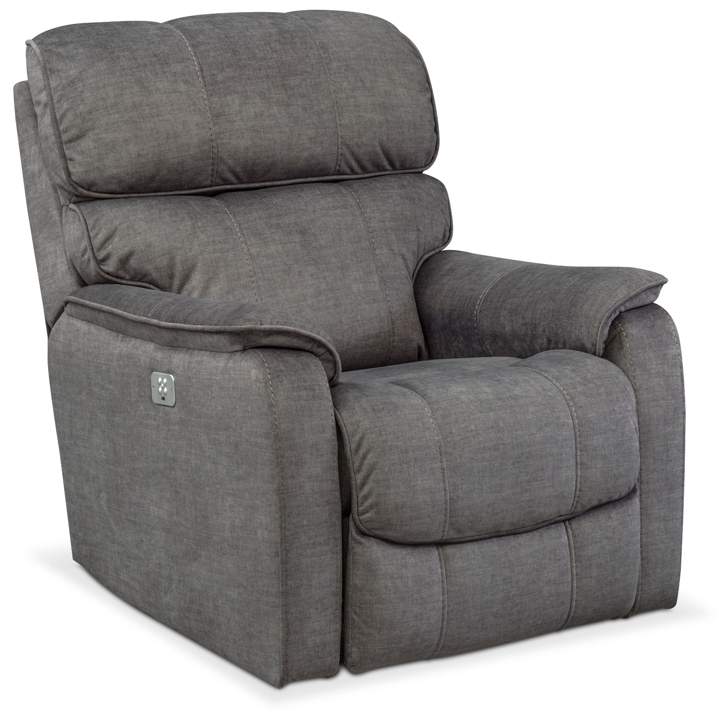 Mondo Dual Power Recliner   Gray