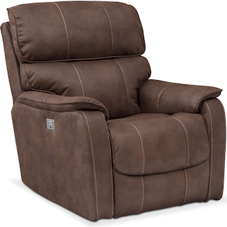 Mondo Dual Power Recliner - Brown