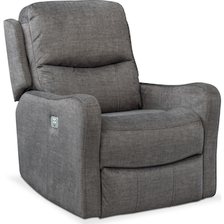 Cabo Dual Power Recliner - Gray