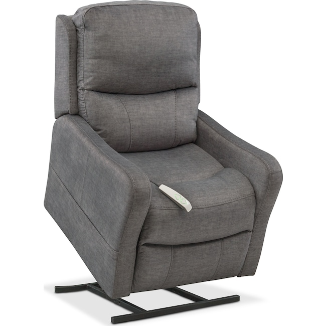 Living Room Furniture - Cabo Power Lift Recliner - Gray