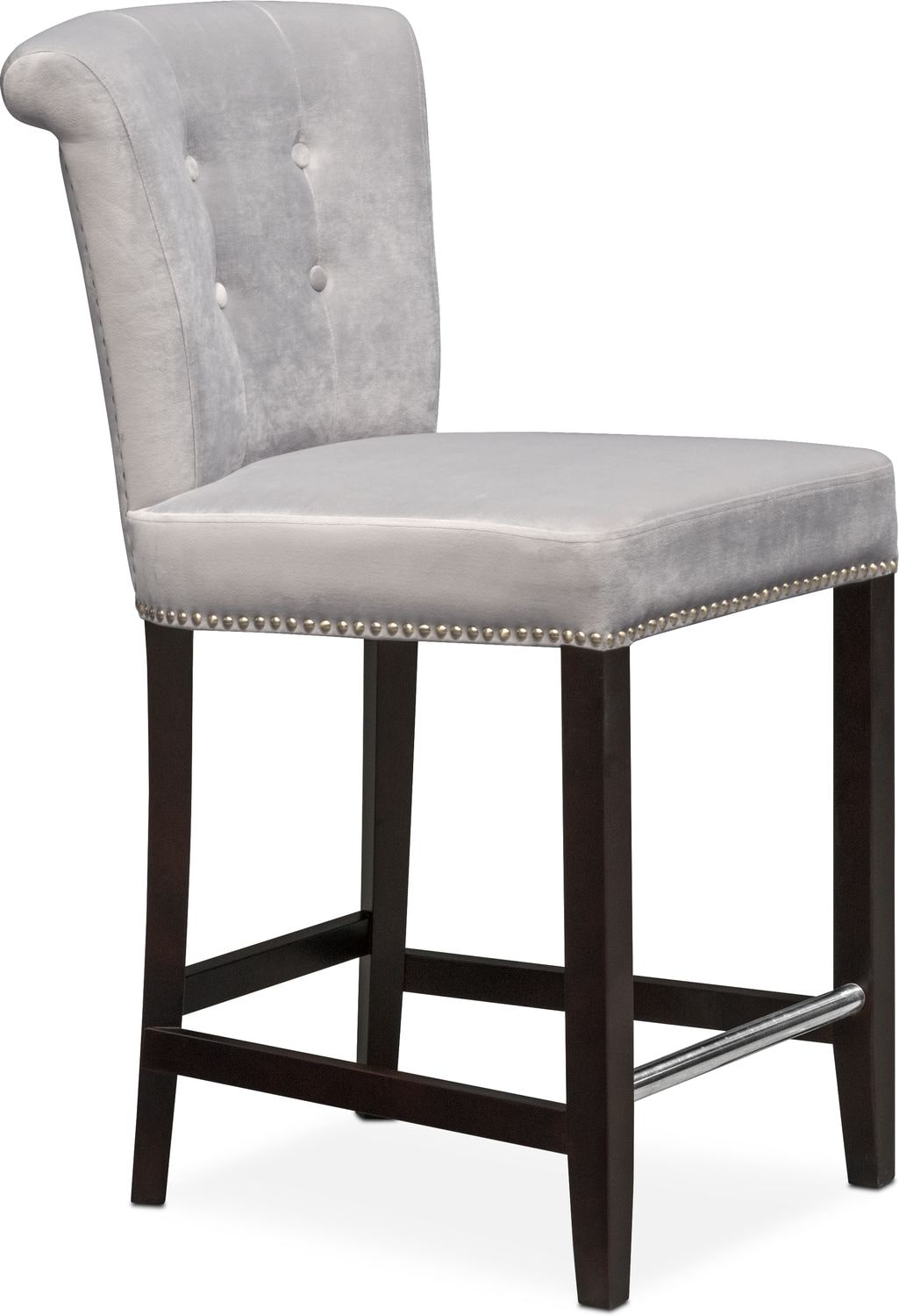 Calloway Counter Height Stool Gray Gold Value City