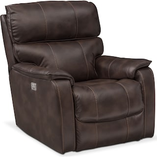 Mondo Dual Power Recliner - Chocolate