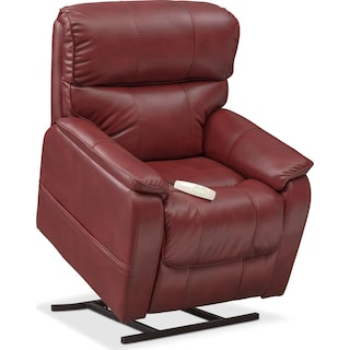 Mondo Power Lift Recliner - Red