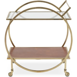 Lindy Serving Cart - Brass