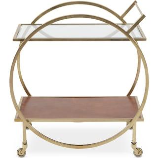 Lindy Serving Cart - Brass