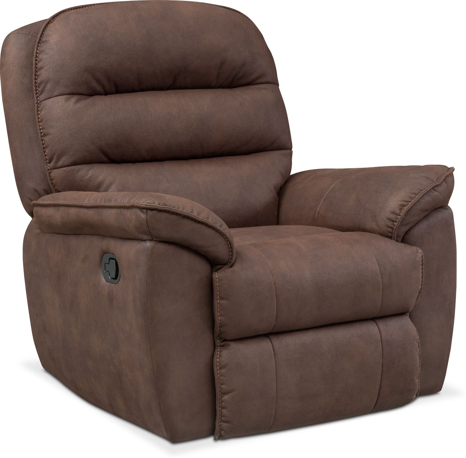 Living Room Furniture   Regis Glider Recliner   Brown