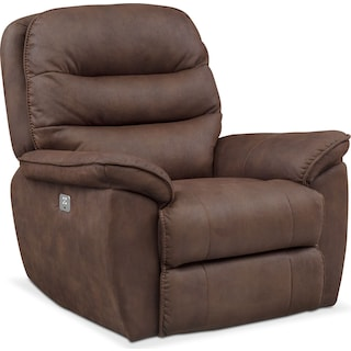 Regis Dual Power Recliner - Brown