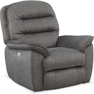 Regis Dual Power Recliner - Gray