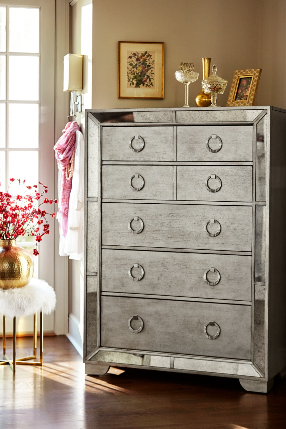 Angelina Chest Metallic Value City Furniture