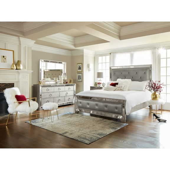 The Angelina Collection Metallic Value City Furniture