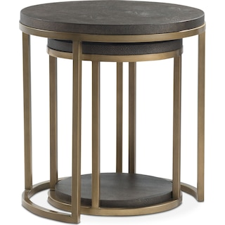 Riviera 2-Piece Nesting Tables - Shagreen Cognac