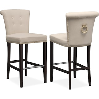Calloway Barstool - Natural/Gold