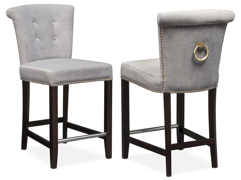 Calloway Counter-Height Stool - Gray/Gold  sc 1 st  Value City Furniture & Counter \u0026 Bar Stools | Value City Furniture islam-shia.org