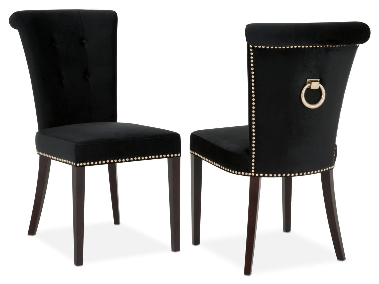Calloway Side Chair   Black/Gold