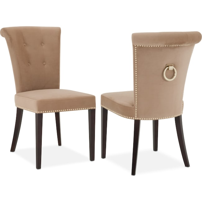 Dining Room Furniture - Calloway Side Chair - Camel/Gold