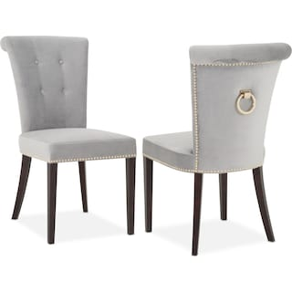 Calloway Side Chair - Gray/Gold