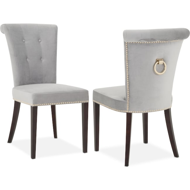 Calloway Side Chair Gray Gold Value City Furniture And