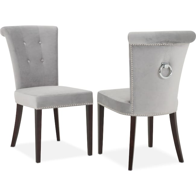 Dining Room Furniture - Calloway Side Chair - Gray/Silver