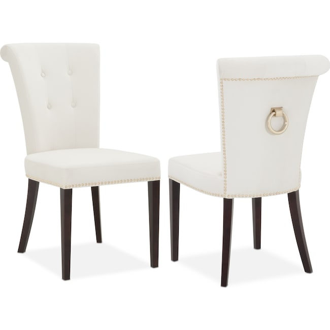 Side Chair calloway side chair ivory gold value city furniture and mattresses