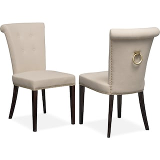 Calloway Side Chair - Natural/Gold