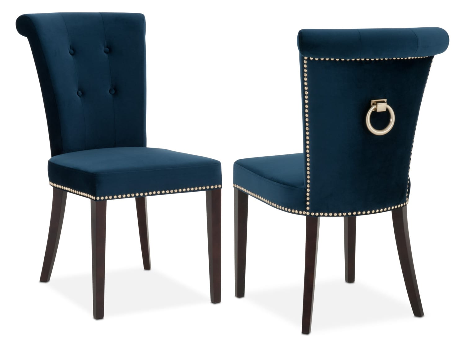Calloway Side Chair - Navy/Gold | Value City Furniture and ...