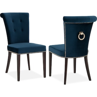 Calloway Side Chair - Navy/Gold