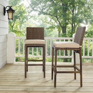 Destin Outdoor Set of 2 Barstools - Sand