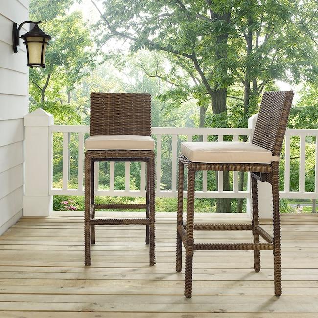 Outdoor Furniture - Destin Outdoor Set of 2 Barstools