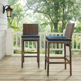 Destin Outdoor Set of 2 Barstools - Blue