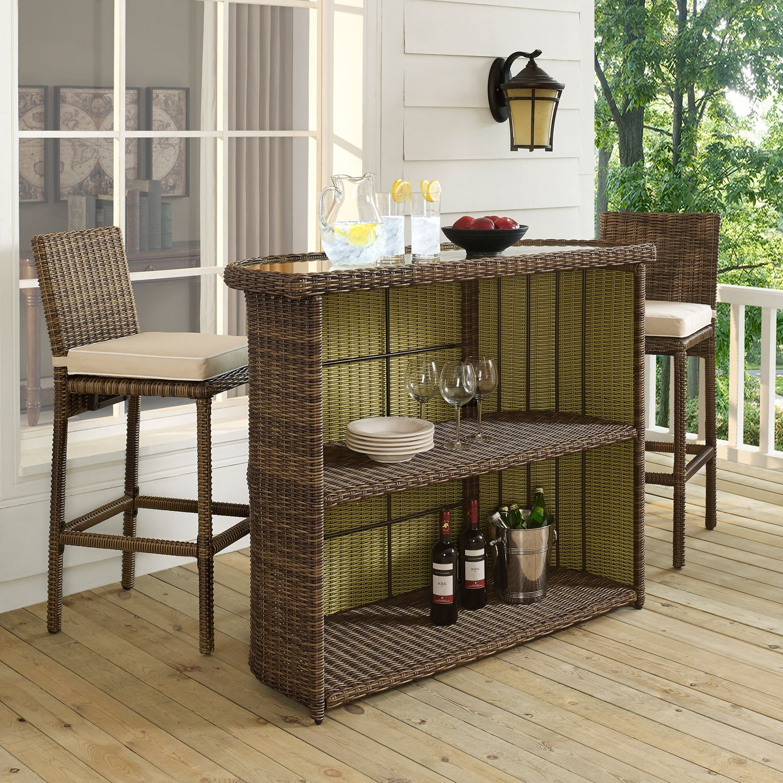 Destin Outdoor Bar Brown Value City Furniture
