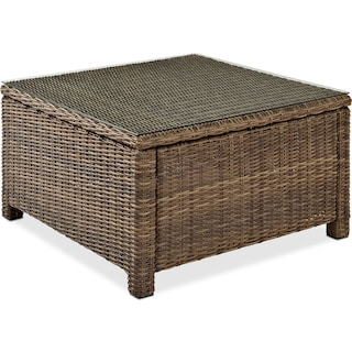 Destin Outdoor Square Cocktail Table - Brown