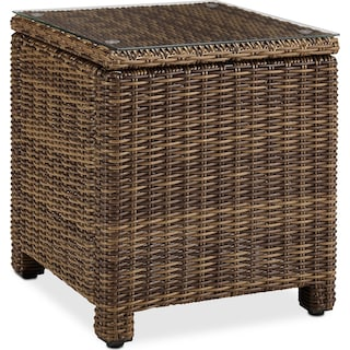 Destin Outdoor End Table - Brown