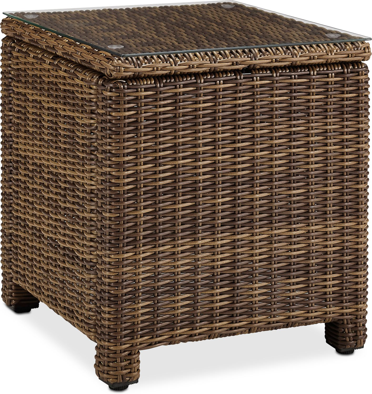 Outdoor Furniture   Destin Outdoor End Table   Brown