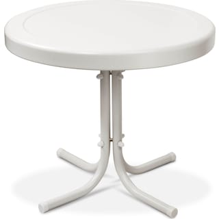 Apollo Outdoor Side Table - White