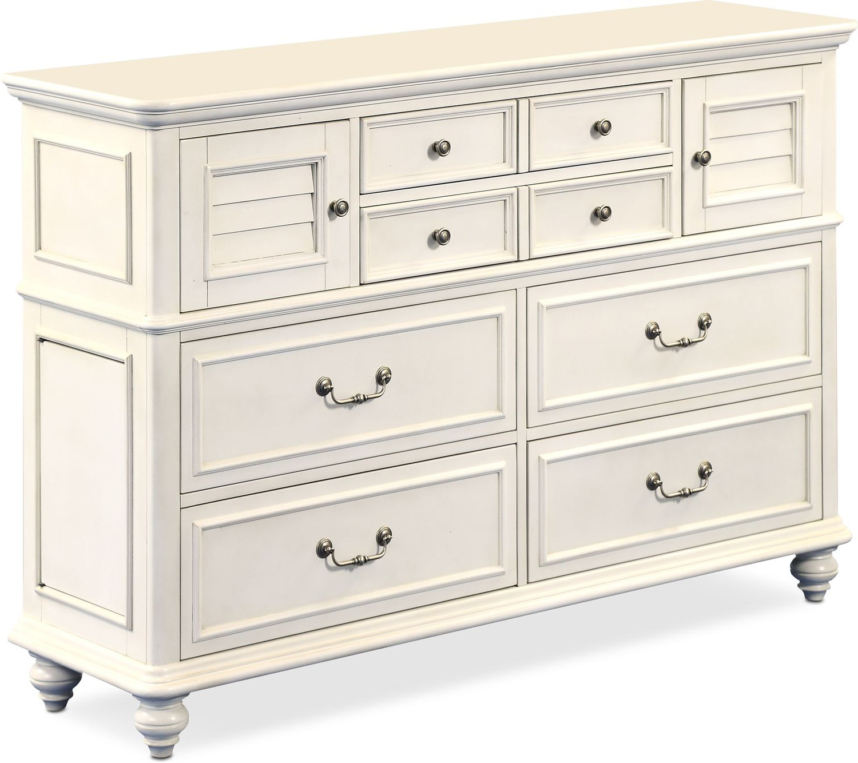 Charleston Dresser And Mirror White Value City