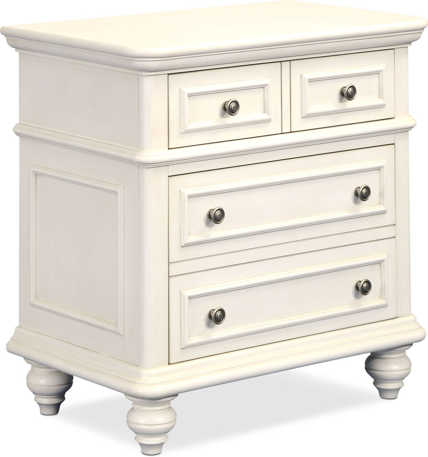 Bedroom Furniture - Charleston 2-Drawer Nightstand