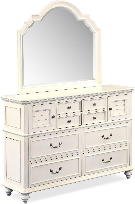 Merveilleux Bedroom Furniture   Charleston Dresser And Mirror   White