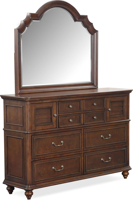 Bedroom Furniture - Charleston Dresser and Mirror